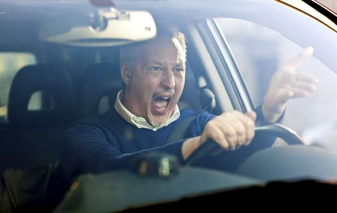 Angry Driver Screaming