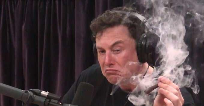 Elon Musk smoking marijuana