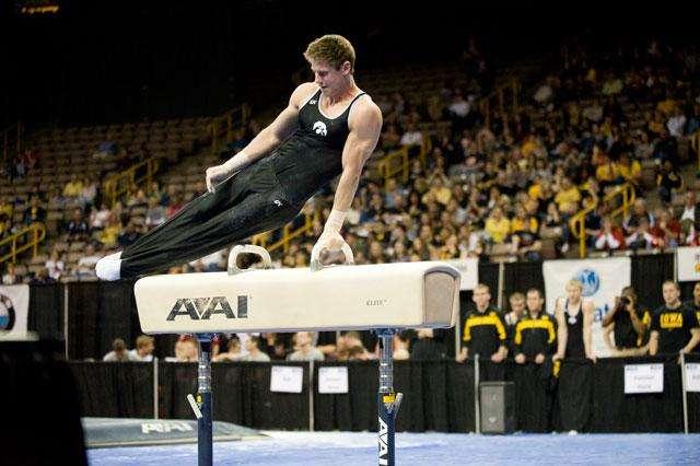 broderick shemansky Iowa gymnastics team member